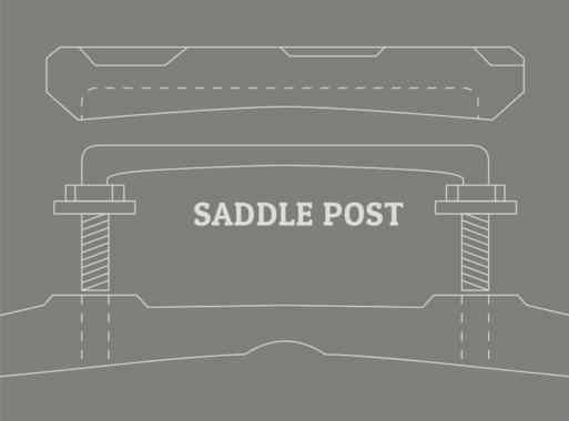 Weber Mandolin Saddle Post